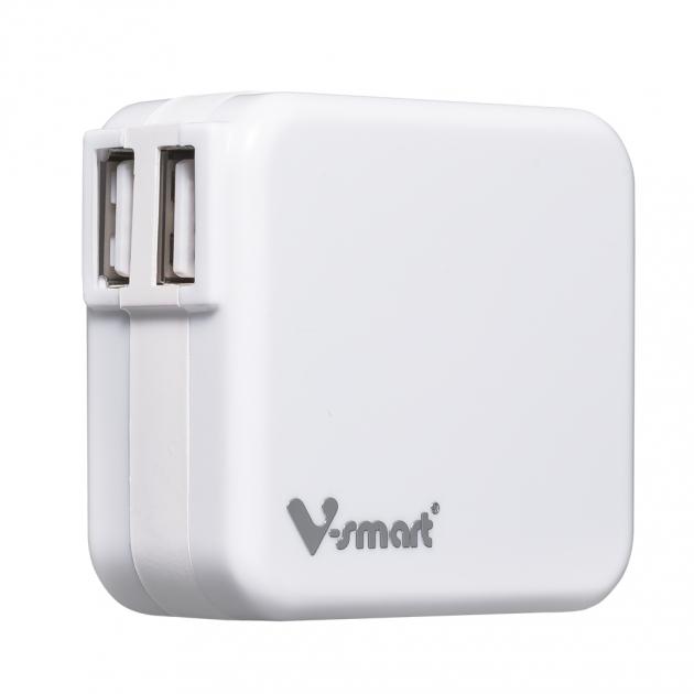 USB電源轉換充電器-白色 1