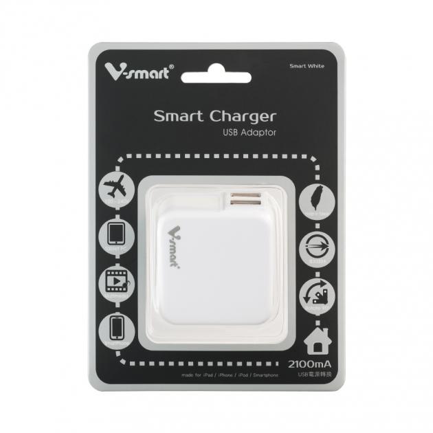 USB電源轉換充電器-白色 5