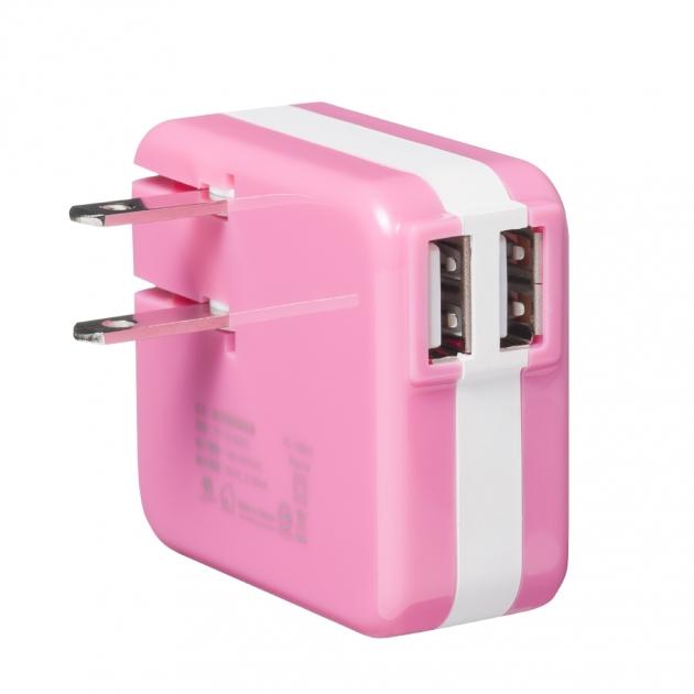 USB電源轉換充電器-粉色 2