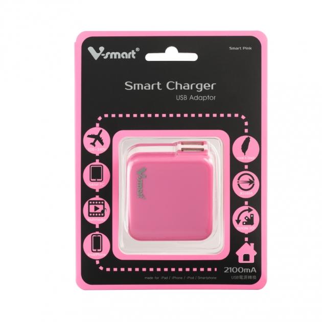 USB電源轉換充電器-粉色 5