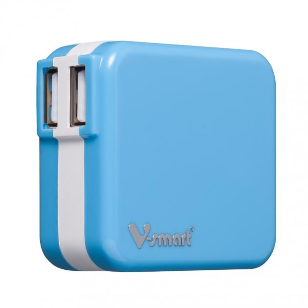 USB電源轉換充電器-藍色 1