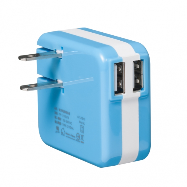 USB電源轉換充電器-藍色 2