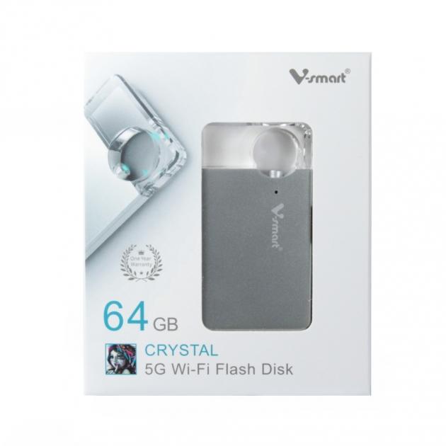 攜帶式迷你雲 5G WI-FI 無線隨身碟 64GB-銀色 5