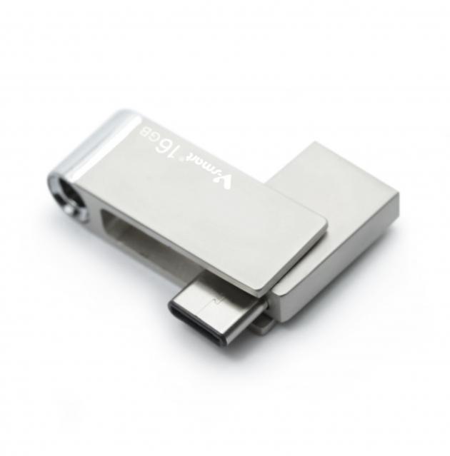 Type C 高速雙用OTG隨身碟 16GB 霧銀 4