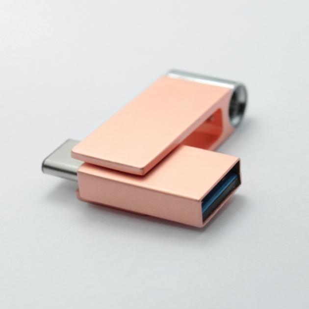 Type C 高速雙用OTG隨身碟 32GB 玫瑰金 3