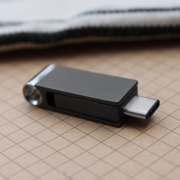 Type C 高速雙用OTG隨身碟 64GB 鐵灰 1