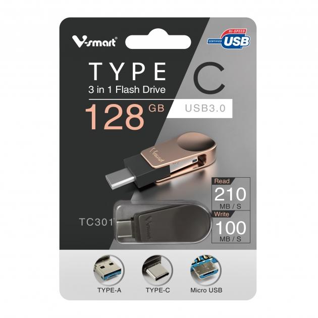 Type C 三合一 OTG 隨身碟 128GB-鐵灰 5
